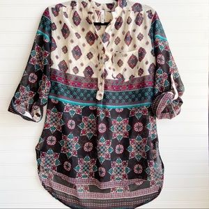 Live 4 Truth Boho Floral Paisley Tunic Blouse Top